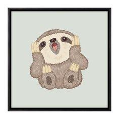 Framed Art Prints, Painting Prints, Fine Art Prints, Animal Espiritual, Cute Sloth Pictures, Sloth Cartoon, Sloth Drawing, Baby Sloth, Art And Technology