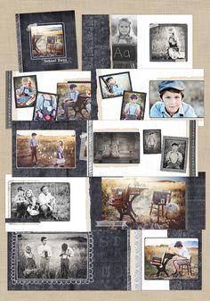 Pizarra de la vieja escuela | 12x12 Álbum - Crave Diseño