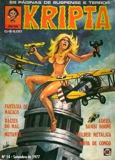 Revista Kripta #14 - RGE (1976) - Quadrinhos de terror, suspense, ficção e sobrenatural