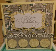 Yellow abstract birthday card