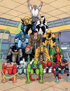 The Justice Dorks! I mean... Justice League International... >.> I like Justice Dorks better.