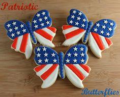 images of patriotic cookies | Simply Sweets by Honeybee: Patriotic Butterflies {Tutorial}