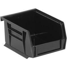 Efficiently organize your inventory with this crafty Quantum Storage System Ultra Series Stack and Hang Storage Bin in Black.