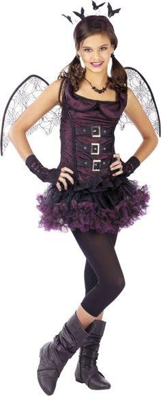 Dark Wing Bat Costume for Girls - Halloween City