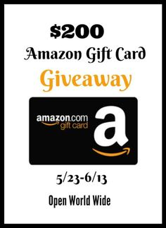 How would you like to win a $200 Amazon Gift card? Here's your chance! I've teamed up with some fantastic blogs to bring you an amazing giveaway. Just head below for your chance to win. Prize: $200 Amazon Gift Card Co-hosts: Surviving Mommy // Dorky's Deals // Coupons and Freebies Mom // Jenn's Blah …