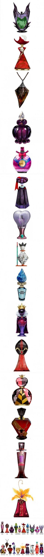 Disney villain themed perfume bottles