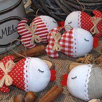 Zboží prodejce kajrka / Zboží | Fler.cz New Years Decorations, Christmas Decorations, Owl Sewing, Diy And Crafts, Arts And Crafts, Christmas Ornament Crafts, Pin Cushions, Textiles, Valentines