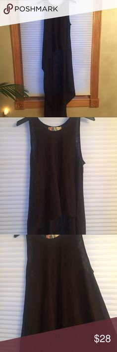 Free People Beach Black High Low Maxi Tank Top Free People Beach High Low Maxi Tank Top in Black. Vintage, no longer produced. New w/o tags. Never worn. Amazing beach coverup! Front hits at normal Tank length while back goes down like a maxi dress. Awesome one of a kind Free People Piece! Size L. Free People Tops Tank Tops