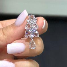 Magical rose-cut diamond earrings from VERDI GIOIELLI