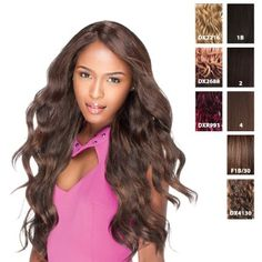 "Sensationnel braune Perücke Lace Front Wig ""EASY 5 LOOSE"" (Easy Wave) L parting brünett (rot - braun)"