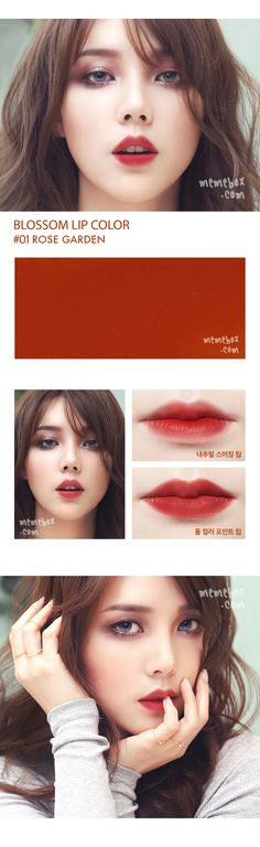 Pony Blossom Lipstick 01 Rose Garden Beauty And Make Up Makeup Inspo, Makeup Inspiration, Makeup Tips, Makeup Ideas, Asian Make Up, Eye Make Up, Pony Makeup, Korea Makeup, Korean Makeup Tutorials