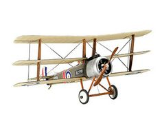 The Revell 1/72 Sopwith Triplane plastic aircraft model accurately recreates the real life British triplane fighter. This plastic aircraft kit requires paint and glue to complete.