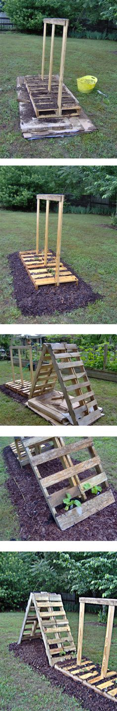 Pallet Garden future garden project... just need the yard!