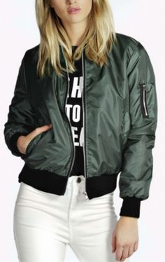 Grab this cute bomber jacket that you can wear with practically anything. Fashion phenom, Kylie Jenner, has been seen rocking this style and now, so can you! **Free Shipping** SEE SIZE CHART FOR SIZIN