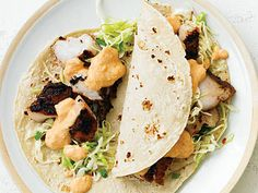 Baja Light Fish Tacos | Try these simple grilled fish recipes for grouper, tuna, catfish, halibut, trout, and swordfish. We guarantee sizzling-good meals.