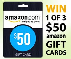 FACEBOOK FREEBIE $$ FamilySavings Sweepstakes: Enter to Win 1 of 3 $50 Amazon Gift Cards!