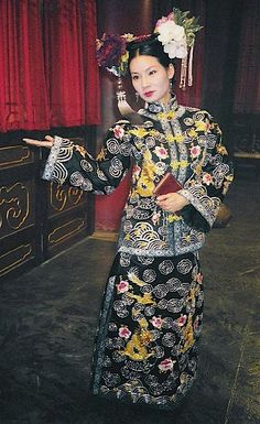 Shanghai Noon.  Lucy Lui when she meets the Emperor.  Costume made in Beijing to my design.  #josephporro
