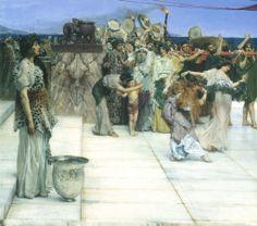 Sir Lawrence Alma-Tadema, A Dedication To Bacchus. 1889 (detail#1)