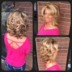 Think Your Hair Can't Be Tamed? Everyone wants to have great looking hair, as a good set of locks can completely transform a person's appearance. Mom Hairstyles, Modern Hairstyles, Hair Images, Hair Pictures, Feathered Hair Cut, Medium Hair Styles, Curly Hair Styles, Mother Of The Bride Hair, Medium Layered Hair