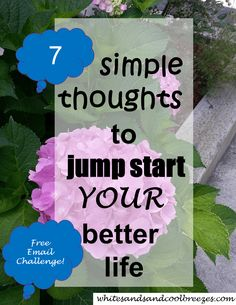 Looking for a way to jump start YOUR better life? Well, you're in the right place! 7 simple thoughts that will help you find and live your better life! Free email challenge. #better #life #change