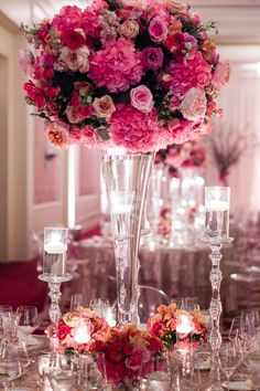 Table decor #rosegold #wedding by @Erin Duncan Flora of Dallas
