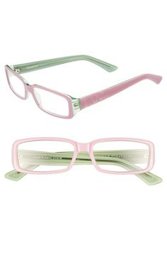 Pink and green eyeglass frames AKA 1908 #followprettypearlsinc