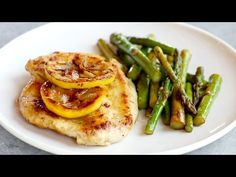 This 5 Ingredient Lemon Chicken with Asparagus is a bright, fresh, healthy dinner that comes together in 20 minutes! So good!