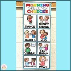 Morning Greeting Choices Sign - Social Distancing Greetings
