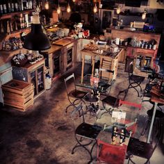 Rustic/industrial interior design and cafe concept https://www.etsy.com/listing/179401349/the-sez-wall-mailbox-steel-modern-urban?ref=listing-shop-header-0 If you like this check out my shop for industrial art and decor items that are recycled and handmade one of a kind