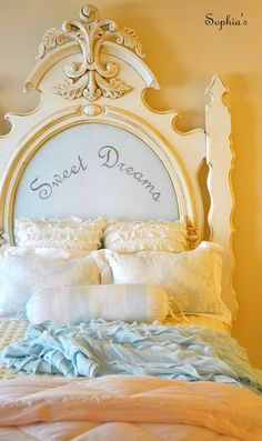 Here's what to do with that headboard I dragged home from the neighbor's trash-pile.  Someday.