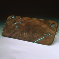 Wood Bread Board with Turquoise Inlay....don't know if the turquoise would get damaged with the knife of not.......but I love it!