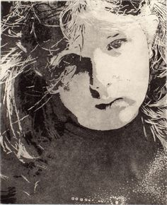 'Thetis'  2006  Etching & Aquatint by Paul Walker. Wow! I love this portrait, the composition and tones, the expression and the eyes. The aquatint is wonderful. S