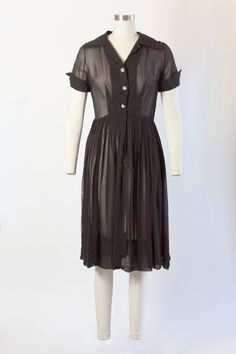 * Sheer Black House Dress *