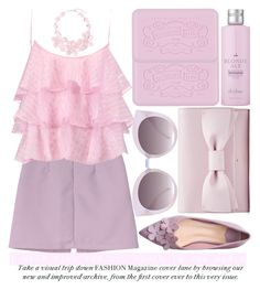 """""""I WEAR PINK FOR ALL WOMEN IN THE WORLD"""" by noraaaaaaaaa ❤ liked on Polyvore featuring WithChic, Pierre Balmain, Quay, Drybar and Natasha"""