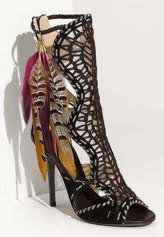 Jimmy Choo Kevan Feather Trim Gladiator Sandals.jpg (450×650)