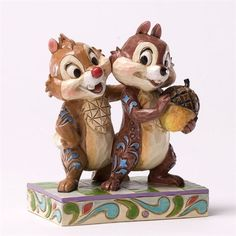 "Jim Shore Disney Traditions Chip and Dale ""Nutty Buddies"" 