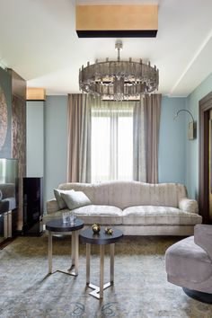 The chandelier Saturne by Mathieu Lustrerie in the project designed by Olga Freimann (Freimann Gallery)