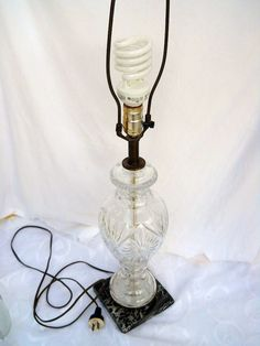 Lamp Lighting Crystal Glass Retro Marble by PerfectlyGoodStuff, $35.00