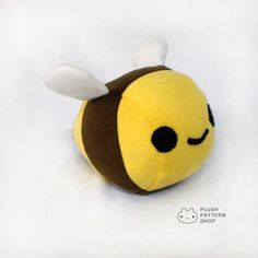 You can make your very own plush bee!  This pattern is easy to follow with lots of step by step full color photos. This simple and professional