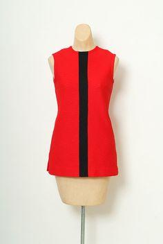 60s Mod Blouses / Mod top / mini dress / by VintageBoxFashions