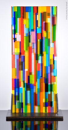 "Doug Randall ""Prayer Wall"" Item #50104 fused glass 21.5""h x 11""w x 6""d SOLD"