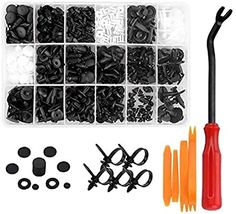 Amazon.com:Haneex Auto Fastener Clip Mixed Car Body Push Retainer Pin Rivet Bumper Door Trim Panel Retainer Fastener Tools Kit Set (415pcs + Tools Set): Automotive