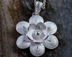 Enip Pendant  Handmade Silver Filigree