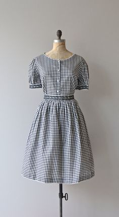 Gretchen dress 1950s gingham dress 50s blouse and by DearGolden