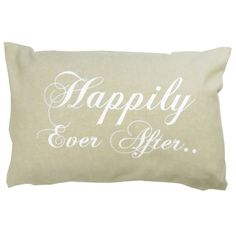 Park B. Smith ''Happily Ever After'' Throw Pillow, White