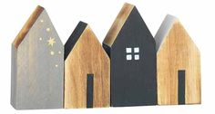 The small deco houses made of wood by Madam Stoltz about Bertine, to 14 euros, zau … - DIY CHRİSTMAS Wooden Crafts, Diy And Crafts, Boho Deco, Deco Nature, Decoration Design, Driftwood Art, Miniature Houses, Wood Toys, House In The Woods