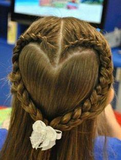 Heart hair style for long hair #Wedding