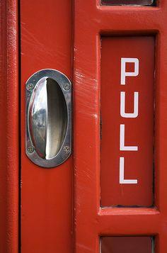 London telephone booth door