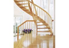 Double Helix Wooden Spiral Staircases from York Spiral Stair
