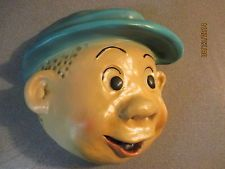"*VINTAGE* NANCY'S FRIEND ""SLUGGO"" CARTOON CHALKWARE STRING HOLDER ^^COOL^^"